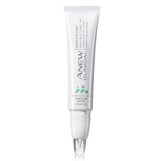Anew Clinical Absolute Even Dark Circle Corrector Regular Price: $30.00 Sale Price: $19.99 Item# 362-145 DESCRIPTION  Introducing ANEW CLINICAL Absolute Even Dark Circle Corrector with Avon's shadow erase complex and self-adjusting sheer optics, eyes look instantly brighter!* 93% of women saw the look of dark circles dramatically reduced.** Designed to match different skin tones. Custom flexible tip for comfortable precise application. Clinically shown: 31% improvement in the look of under-eye dark circles over time.*** .5 oz. net wt. *Based on a consumer-perception study. **Based on those expressed an opinion in a consumer-perception study. ***Based on a dermatologist-supervised clinical study after 12 weeks.