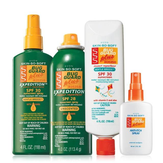 Skin So Soft Bug Guard Plus Collection #1 $20.00 Item# 705-139 DESCRIPTION  Get your Summer Swat Team geared up! Repels mosquitoes for 8 hours and provides effective protection against gnats, no-seeums, sand flies and biting midges. DEET-free, dermatologist-tested, hypoallergenic. A $54 value, the Collection includes:   Bug Guard Plus Expedition™ Aerosol Spray SPF 28 – 4 oz. net wt. A $16 value. Bug Guard Plus Expedition™ Pump Spray SPF 30 – 4 fl. oz. A $14 value. Bug Guard Plus Gentle Breeze™ SPF 30 Lotion – 4 fl. oz. A $14 value. Bug Guard Plus Anti-Itch Spray* - 2 fl. oz. A $10 value. Read and follow label directions and precautions. *Does not repel insects. Use as directed. Ground Shipping Only