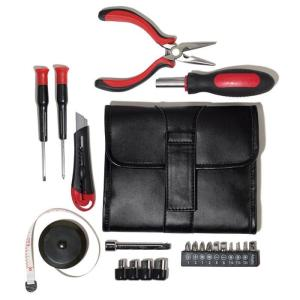 On-the-Go Handy Tool Kit $19.99 Item# 607-760 DESCRIPTION Everything you need to get the job done; all wrapped up in a handsome faux-leather pouch. Closed with tools, 6 1/2